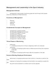 Management and Leadership in the Sport Industry.docx