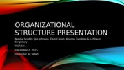 Organizational Structure Presentation (Revised)