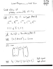 Class Notes- Linear Programming
