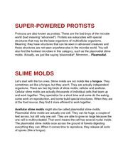 SUPER-POWERED PROTISTS