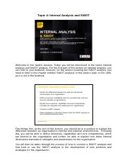 Transcript_Internal analysis and SWOT .pdf