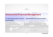 Preparation for Financial Management - Shanghai MIB