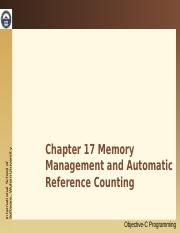 17. Memory Management and Automatic Reference Counting.ppt