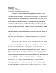 Divison of Local and National Civil Rights Leaders Essay