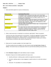 BUL 1 Unit Review Worksheet- Spring 2014 copy