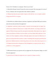 EXAM 4 video WS Cane toads - Science 1101 King Worksheet to ...