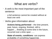 The grammar of verbs - tenses, aspect, forms and conjugations