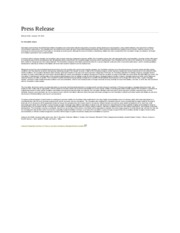 Press Release(January 29th 2014)