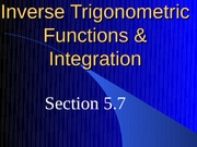 Inverse Trigonometric Functions  Integration