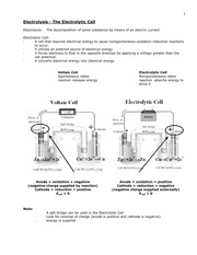 Chem 2C Electrolytic Cells Review