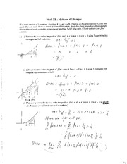 solution _sample+midterm on Integral Calculus)