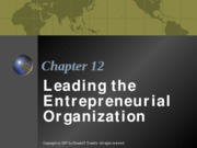 ENTR 3312 - Chapter 12