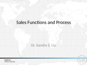 2.1 Sales functions and process
