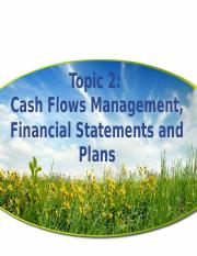 Topic 2 Developing Financial Statement