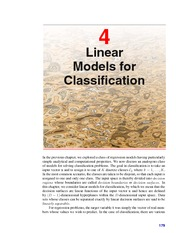 Linear Models for Classification