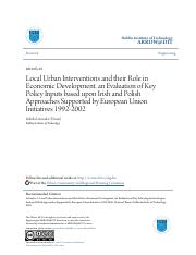 Local Urban Interventions and their Role in Economic Development..pdf