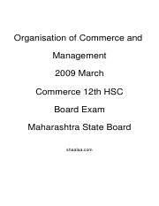 (www.entrance-exam.net)-Maharashtra Board Higher Secondary- Organization of Commerce and Management