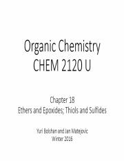 Chapter 18 - CHEM 2120U - Annotated - Student.pptx