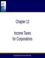 Chapter 12 Income Taxes for Corporations_12edab4(1)