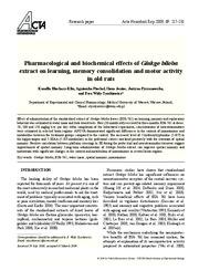 ginkgo biloba research papers