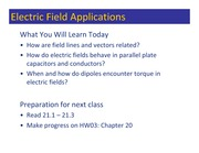 Class 031 - Electric Field Applications