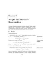 Chapter 9 Weight and Distance Enumeration