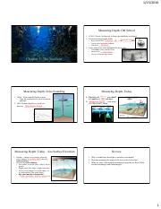 Chapter 3 The Seafloor Notes
