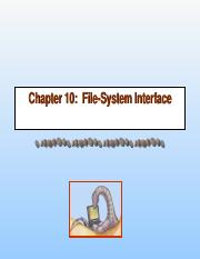 ch10-File System Interface.ppt