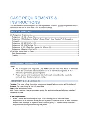 Student Case Requirements and Instructions_08-24-14