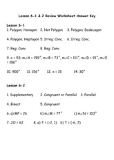 Lesson 6-1 & 2 Review WKST 2014 Answer Key - Lesson 6-1 2 ...