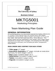 Team Marketing Plan Manual.