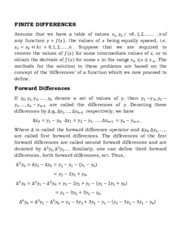 Numerical Analysis:Finite Differences