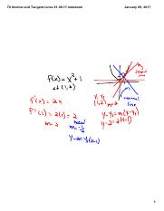T6 Normal and Tangent Lines 01_09_17