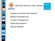 Maths Minimum Path Theories
