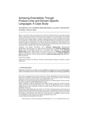 Achieving Extensibility Through