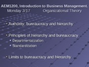 3-17 and 3-24 Organizational Theory