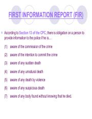 police first information report