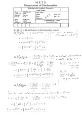 Math 119 2007-2008 Spring Final Exam Solutions