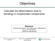 Lecture 12 - Nonprismatic Beam Deformations