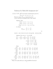 Math 225 Assignment 4