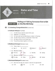 L3 Worksheet - Dates and Times (I)