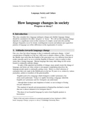12                    How language changes in society