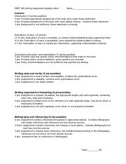 ENST 150_research paper rubric