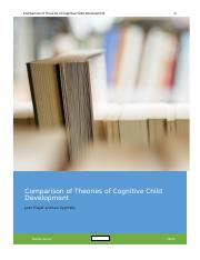 Coparison of Theories of Cognitive Child Development.docx