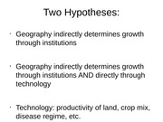 Lecture 2- Two Hypotheses