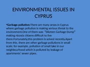 ENVIRONMENTAL ISSUES IN CYPRUS