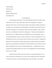 song for my father essay murante theresa murante professor  3 pages portfolio reflective essay