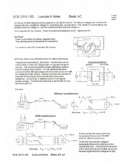 ECE 2210 LECTURE 8 NOTES BASIC AC