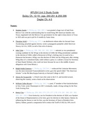 AP U.S. History Chapter Outlines - Study Notes