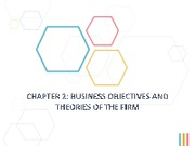 Chapter 2ES - Business Objectives and Theories of the Firm